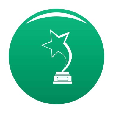 Star award icon vector green