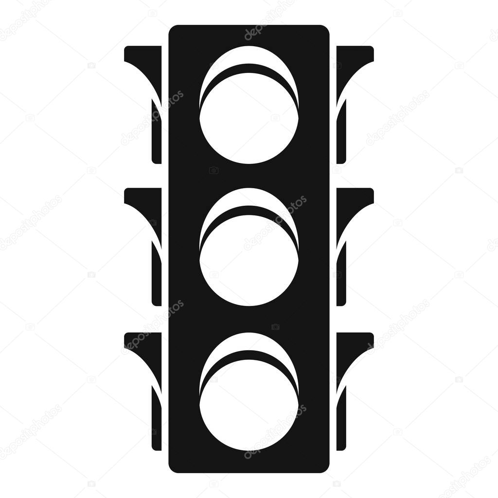 Classic traffic lights icon, simple style
