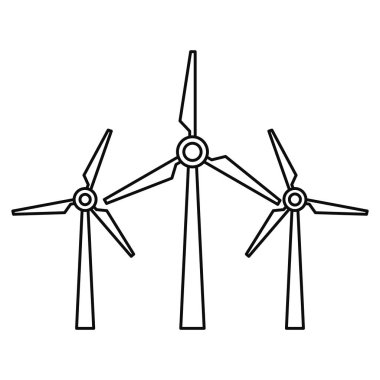 Wind energy icon, outline style