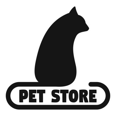 Pet store cat toys logo, simple style