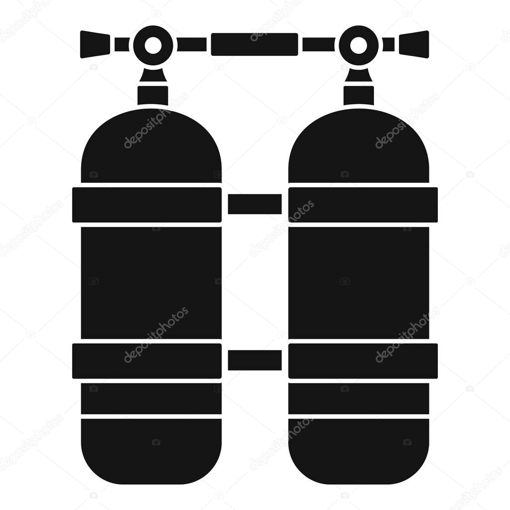 Scuba tank icon, simple style
