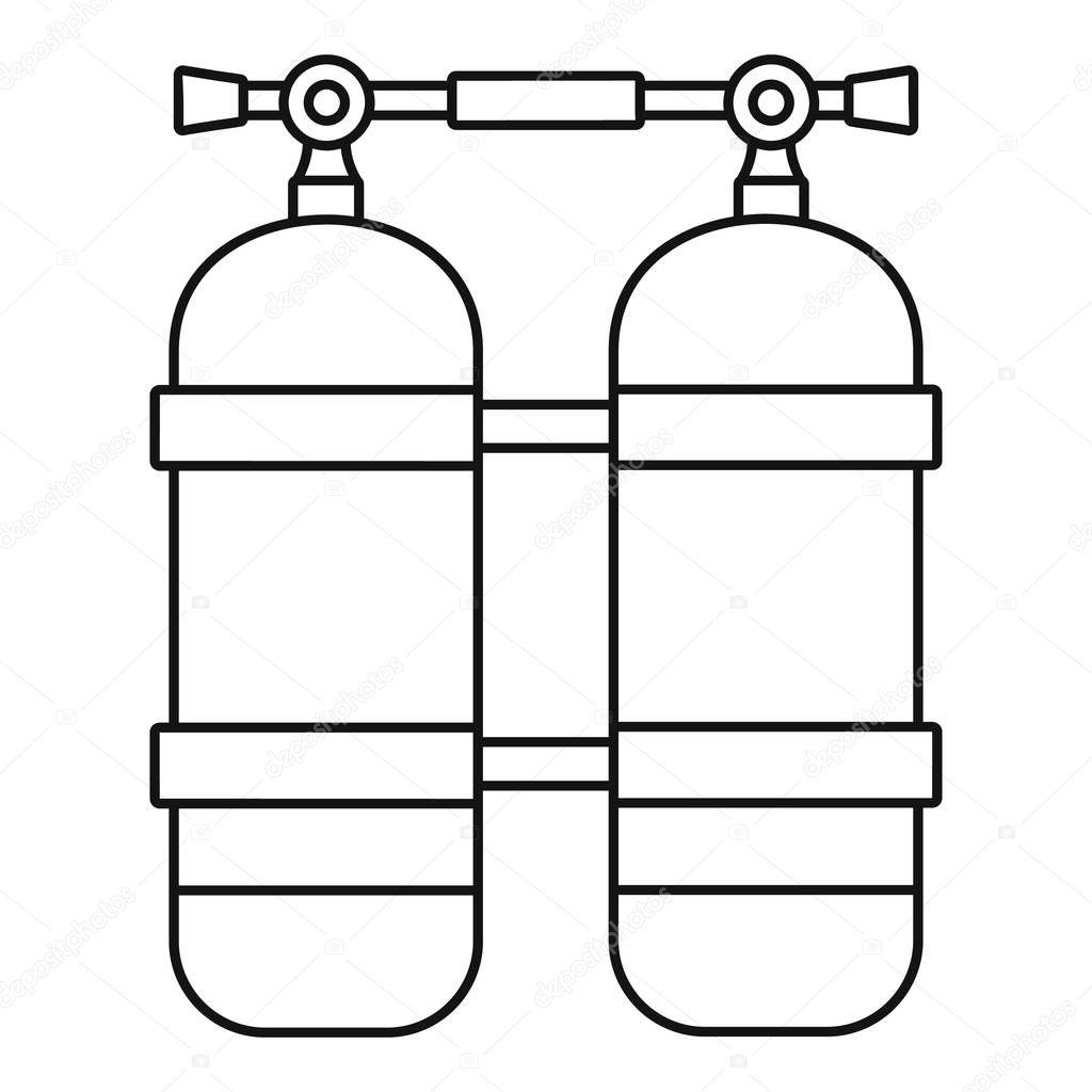 Scuba tank icon, outline style