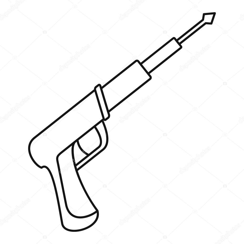 Speargun icon, outline style