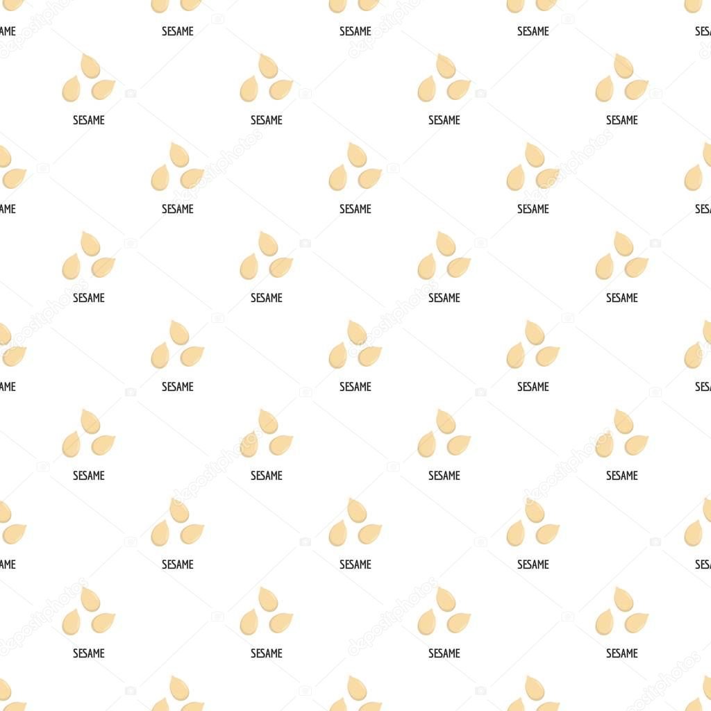 Sesame pattern seamless vector