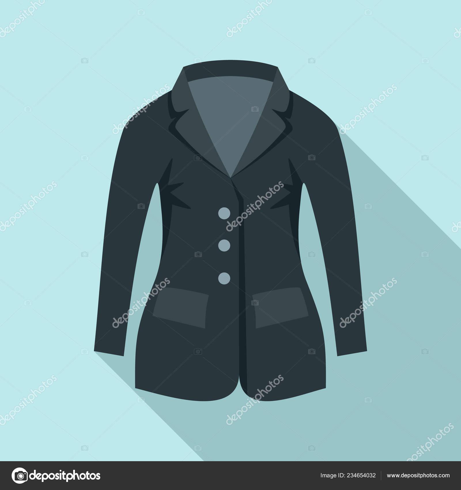 Horse Riding Jacket Icon Flat Style Stock Vector C Anatolir 234654032