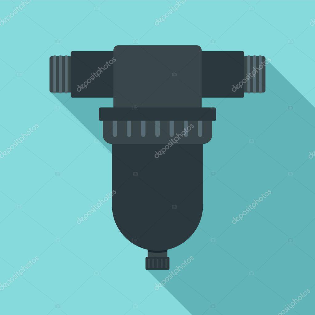 Irrigation tool icon, flat style