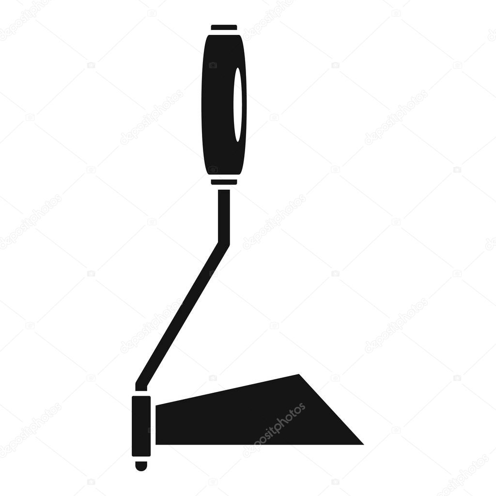 Hand garden dig tool icon, simple style