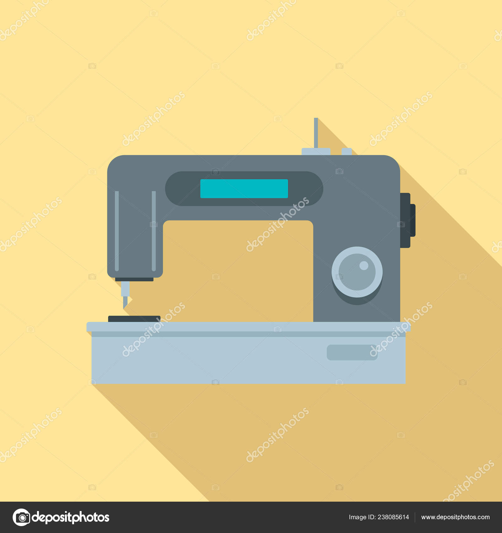 depositphotos 238085614 stock illustration digital modern sew machine icon