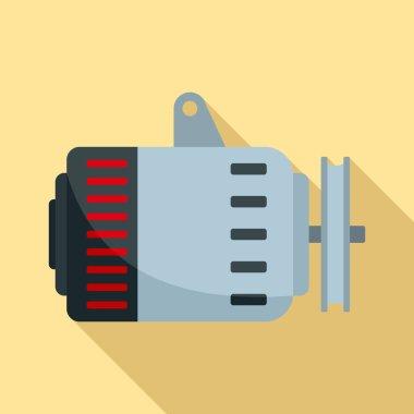 Car alternator icon, flat style