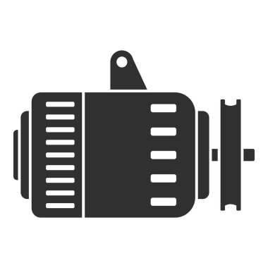 Car alternator icon, simple style