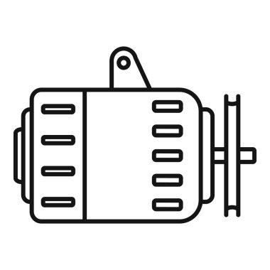 Car alternator icon, outline style