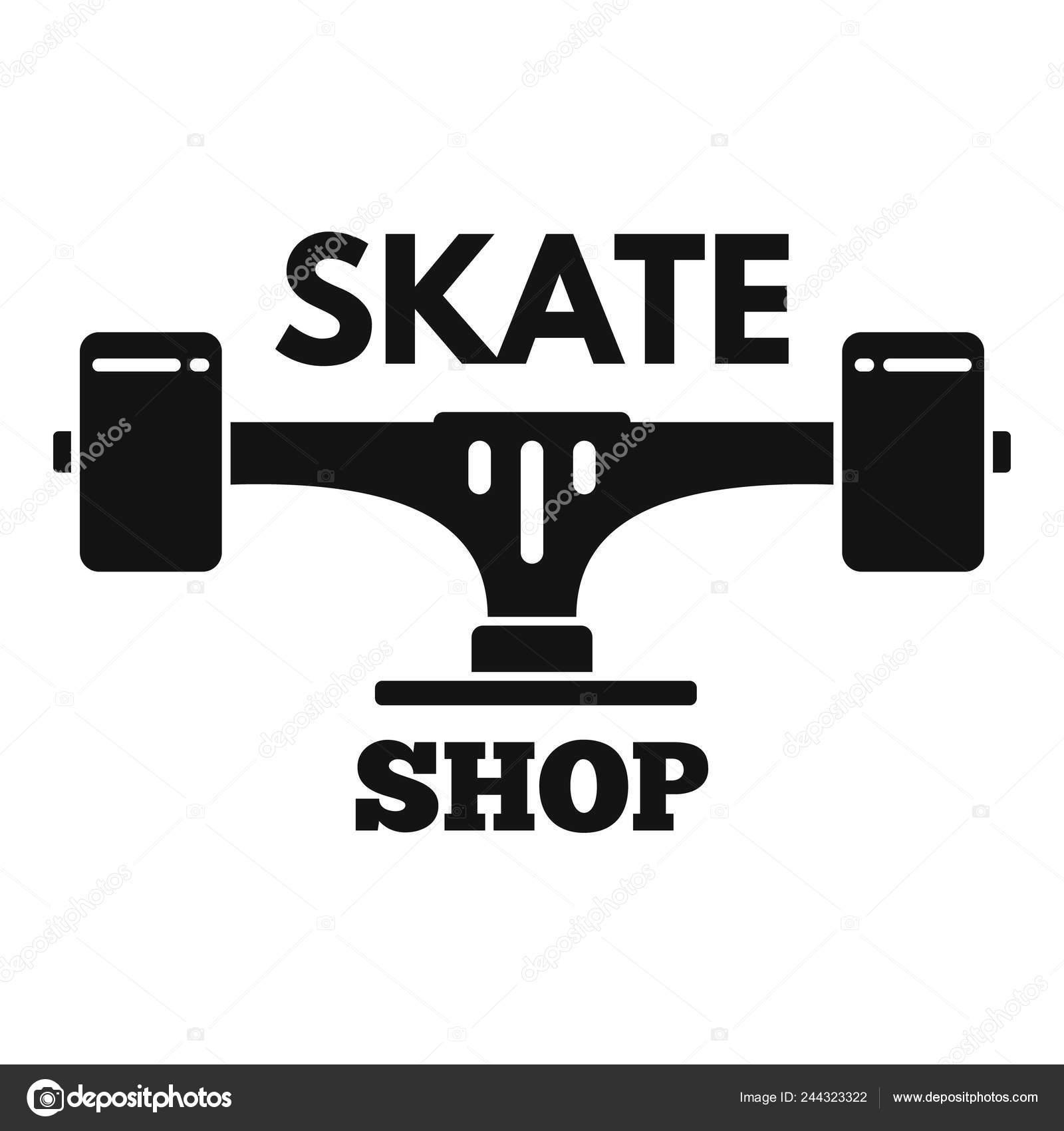 65fed8e13325b8 Skate Shop-Logo, einfachen Stil — Stockvektor © anatolir #244323322