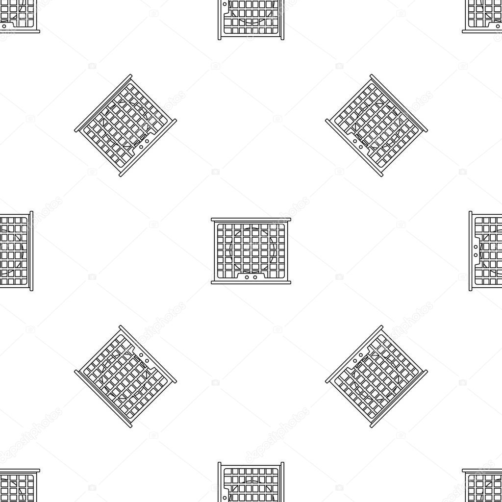 Air conditioner compressor pattern seamless vector