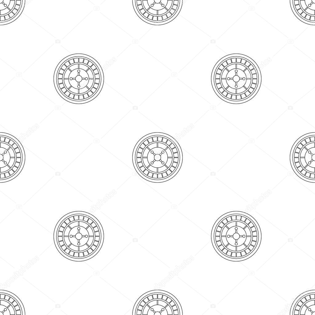 Casino roulette pattern seamless vector