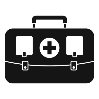 Hunting first aid kit icon, simple style