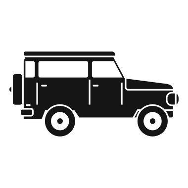 Hunting off road car icon, simple style