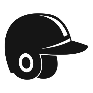 Baseball helmet icon, simple style