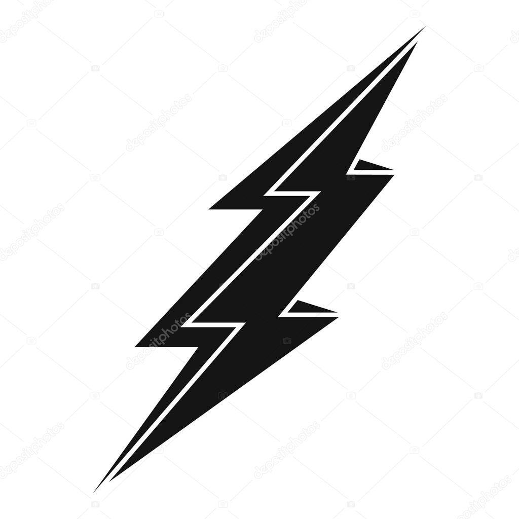 25 ✓ Warning lightning bolt icon. Simple illustration of warning ...