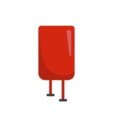 Blood pack icon. Flat illustration of blood pack vector icon for web design icon
