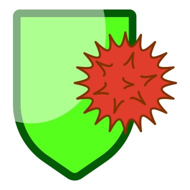Virus protection icon. Cartoon of virus protection vector icon for web design isolated on white background icon