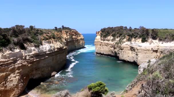 Sziklák és a Loch Ard Gorge Bay, a 12 apostol, Ausztrália