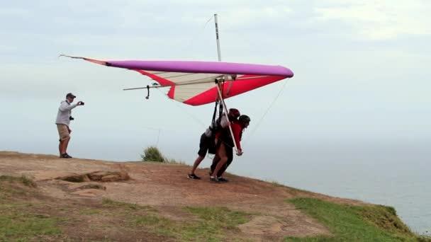 Hang Glider Flying Ocean Coast Australia