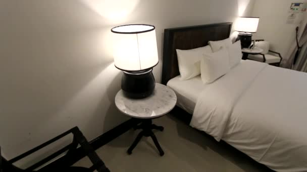 Small Bedroom Interior In Black And White Tones (2)