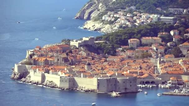 Výhled na staré město Dubrovník (Chorvatsko),