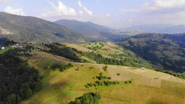 Aerial View Of Carpathian Mountains Range With Valleys And Pastures (1)