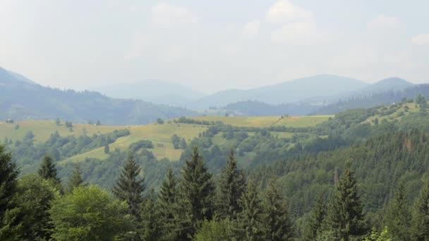 Carpathian Mountains Range View