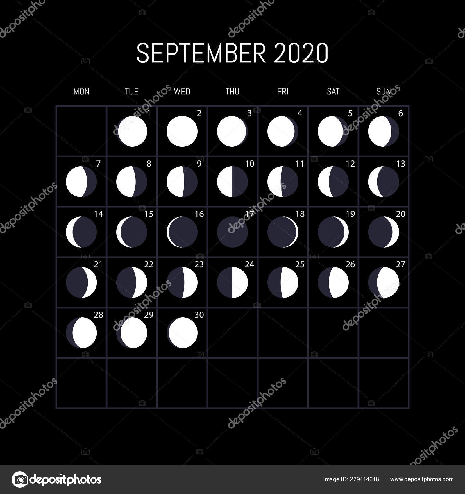 Moon Calendar September 2020 Top 10 Punto Medio Noticias | Moon Calendar September 2020