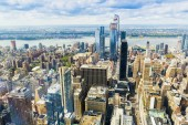 Fotografie Manhattan, New York City. Manhattan skyline a mrakodrapy letecký pohled. New York City, Usa