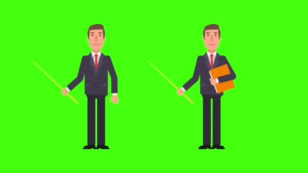 Ukazatel na hospodářství podnikatel a složky. Zelené pozadí. Motion grafika. Video animace.