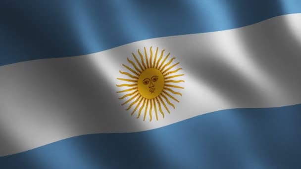 Argentina flag waving 3d. Abstract background. Loop animation. Motion graphics