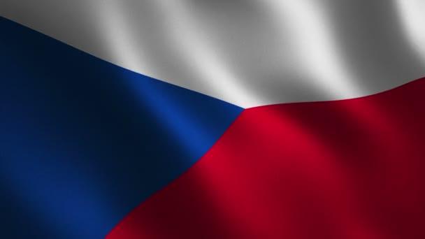 Česká republika vlajka vlající 3d. Abstraktní pozadí. Smyčky animace. Motion grafika