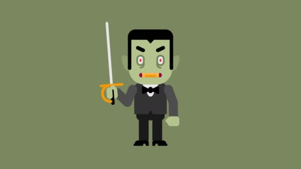 Personaggio dei cartoni animati vampiro congratulazioni halloween