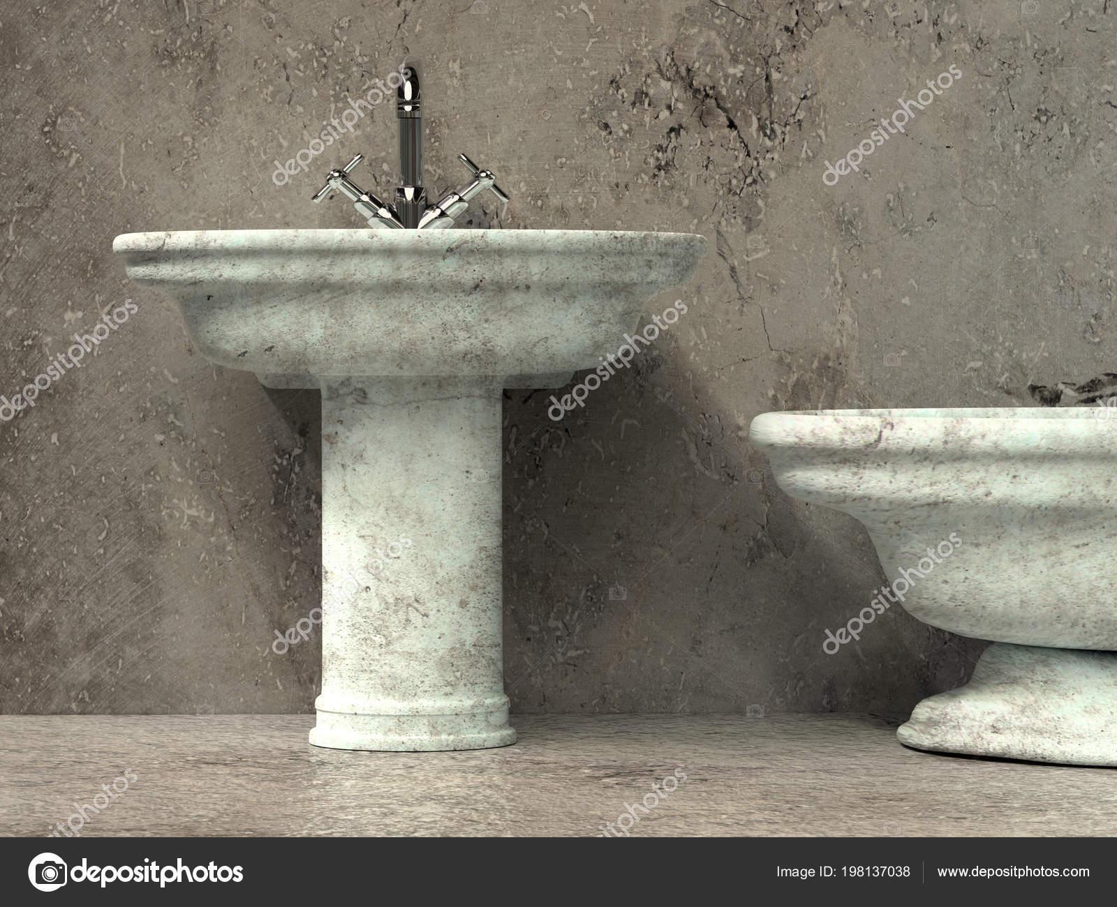 Vasca Da Bagno Stile Antico : Rendering stile antico bagno con lavabo vasca bagno u foto stock