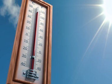 Outdoor extreme high temperature