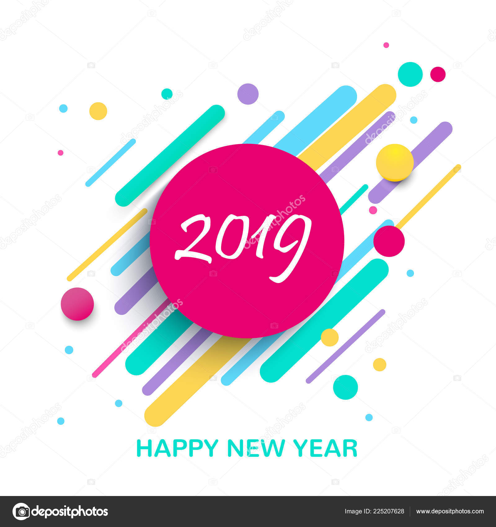 creative design new year card 2019 modern background bright poster stock vector