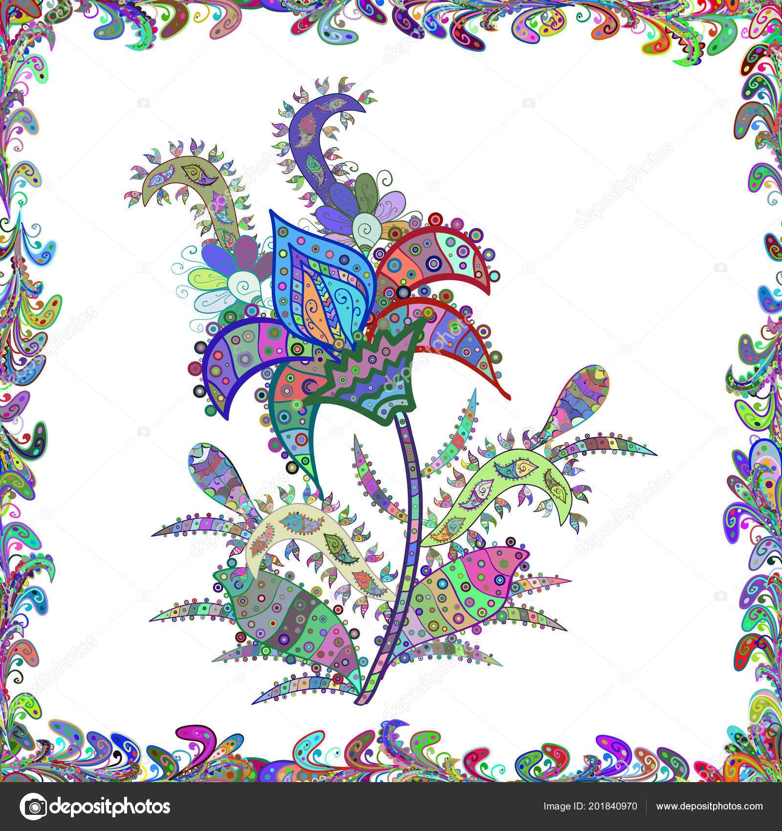 Tribal Art Boho Print Vintage Flower Background Background Texture