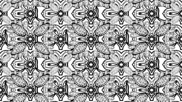 Čmáranice pohybu kompozici záběrů s bílým květem