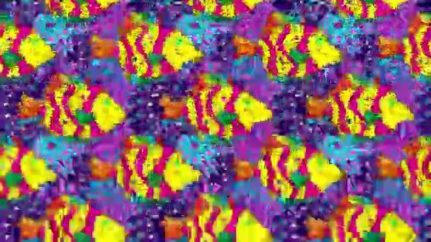 Composizione di metraggio di movimento con le bolle. Accumulazione del fumetto di pesce carina. Pesci su priorità bassa dentellare e blu