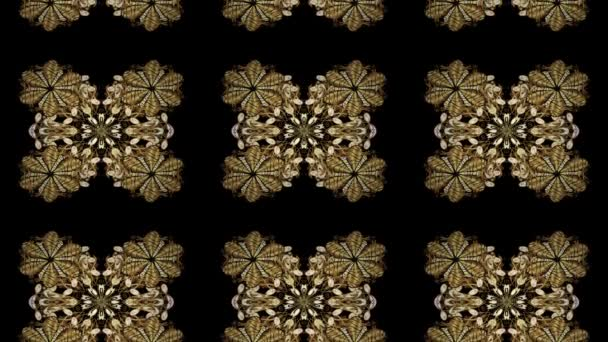 Abstract background with repeating elements. Golden pattern on