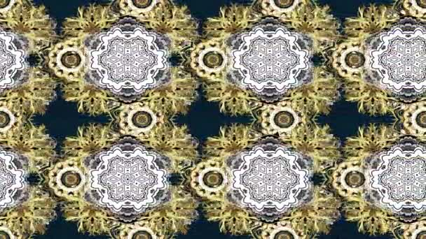 Loop motion footage composition. Classic golden pattern. Traditional orient ornament. Golden pattern with golden elements.