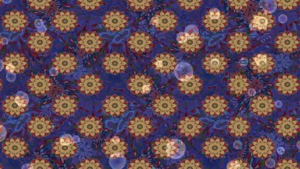 Loop motion záběry složení s květinami