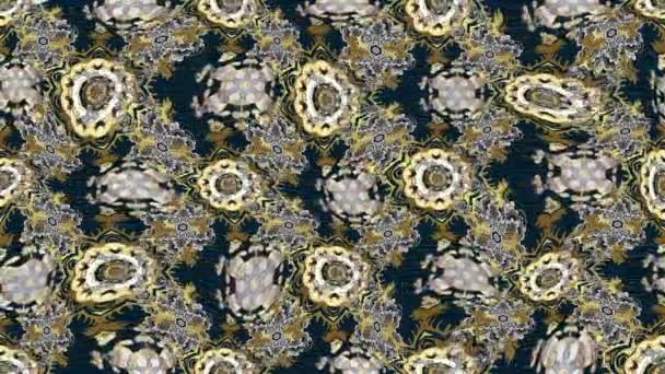 Loop Motion Footage Komposition mit Vintage-Elementen. Orientalische Ornamente im Stil des Barock.