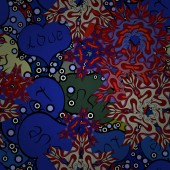 Illusztrációs illusztráció. Zökkenőmentes minta reális gyönyörű kék, piros és fekete szívvel. Boldog Valentin napot! Szerelem és nyaralás téma.