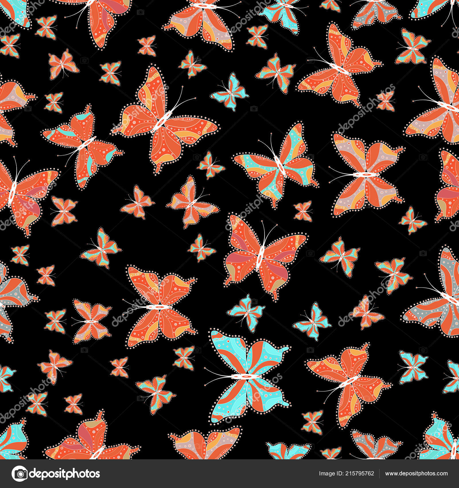 Background Cute Paper Cute Background Paper Design Fabric Wrappers Wallpaper Art Butterflies Black Stock Vector C Valera197615 215795762