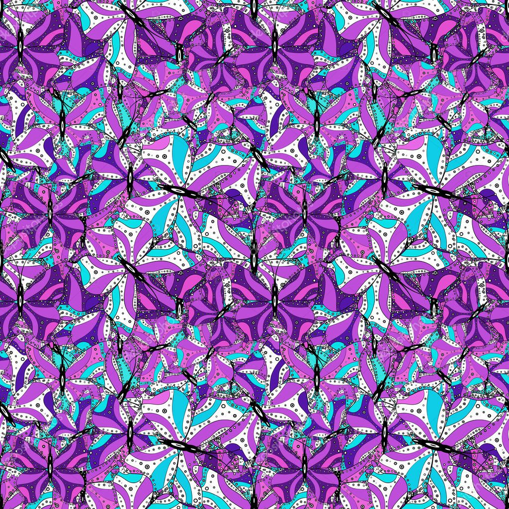 vector design it can be used on sketch wrapping boxes mug prints baby apparels etc seamless pattern nice fabric pattern doodles pattern cute background white violet and black on colors premium wdrfree