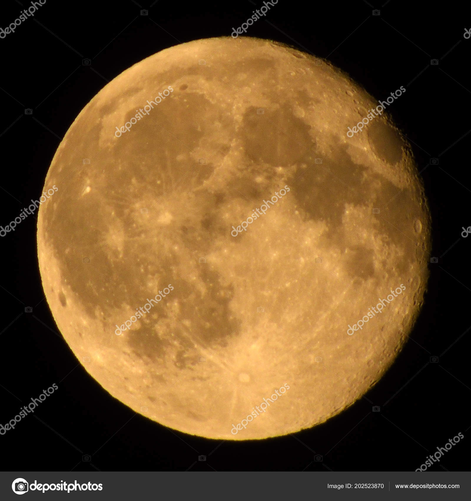 Waning Gibbous Moon Full June 2018 Days Old Stock Photo